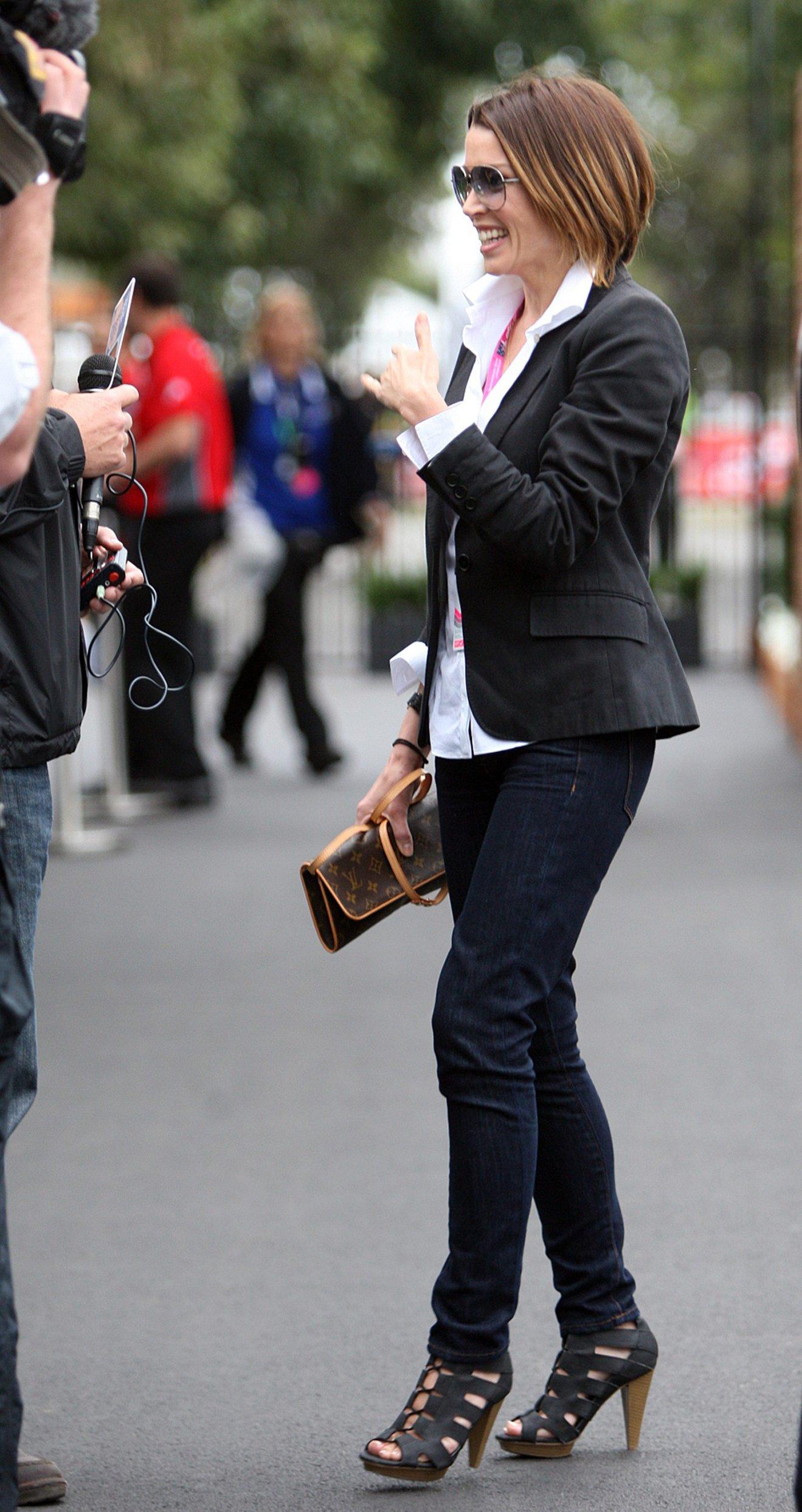 Dannii Minogue at the 2011 Grand Prix in Australia on March 27, 2011
