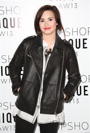 Demi Lovato London Fashion Week 2013 Topshop Unique in London 2/17/13