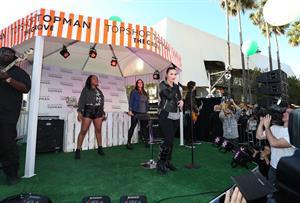 Demi Lovato Topshop Topman LA Grand Opening at The Grove in LA 2/14/13