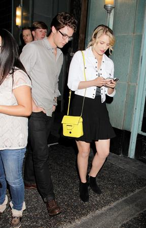 Dianna Agron At the Wiltern Theatre to watch Jack White Concert in LA, May 30, 2012