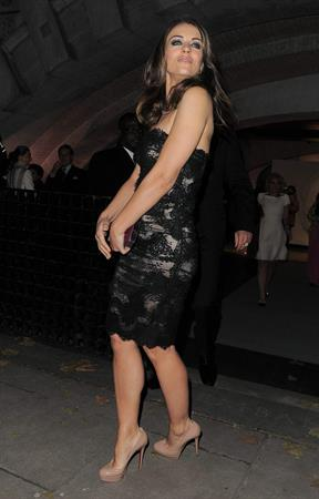 Elizabeth Hurley Leaves her home and heads to the Valentino Ehibition in London November 28, 2012