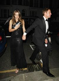 Elizabeth Hurley - Attending a friend's birthday party in London - July 5, 2012