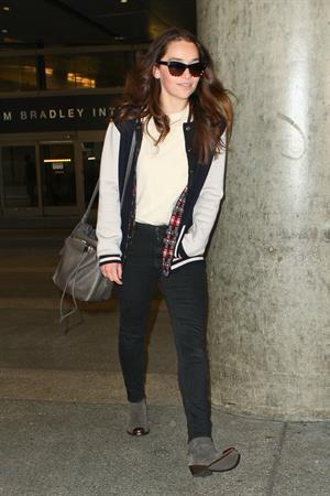 Emilia Clarke LAX airport in Los Angeles, October 15, 2013