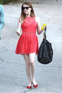 Emma Roberts leaving a private party in Beverly Hills 3/13/13