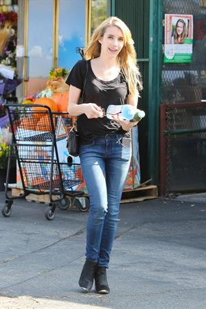 Emma Roberts in Hollywood 10/23/13