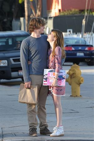 Emma Roberts - Steps out with boyfriend Evan Peters at Third Street in Los Angeles (28.05.2013)