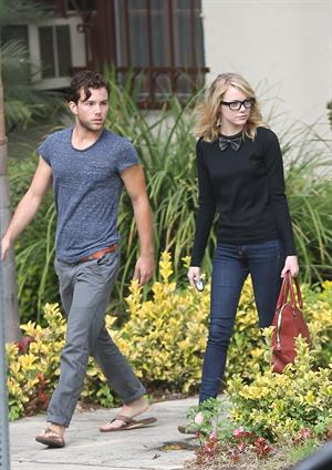 Emma Stone out and about in Hollywood 10/9/12