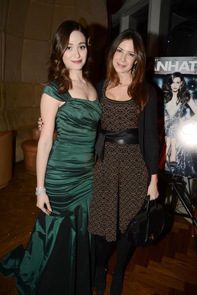 Emmy Rossum Manhattan Magazine Cover Party in New York, January 16, 2013