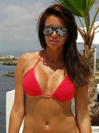 Carolina Gynning in a bikini