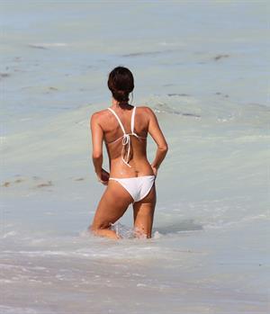 Gabrielle Anwar bikini candids on the beach in Miami 10/5/12