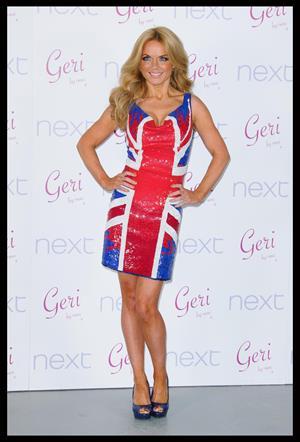 Geri Halliwell Union Jack collection on February 2, 2012