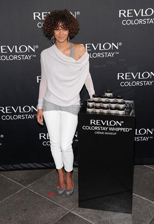 Halle Berry - Revlon ColorStay Whipped Creme Makeup Launch (May 22, 2012)