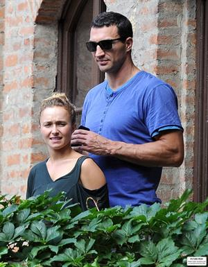 Hayden Panettiere & Wladimir Klitschko checking out the sights in Verona, Italy on June 6, 2013