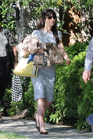 Zooey Deschanel - Heads to a family party in LA - August 26, 2012
