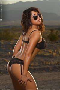 Erika Fernandez in a bikini in lingerie - ass