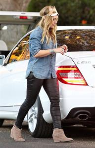 Hilary Duff - Toluca Lake in LA 10/31/13
