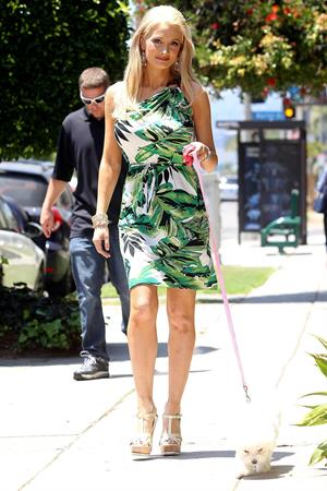 Holly Madison - Takes her dog for a walk in Los Feliz on July 23, 2012