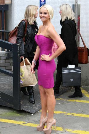 Jennifer Ellison ITV studios London 9th Jan 2012