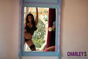 Charley S in Sexy Black Lingerie