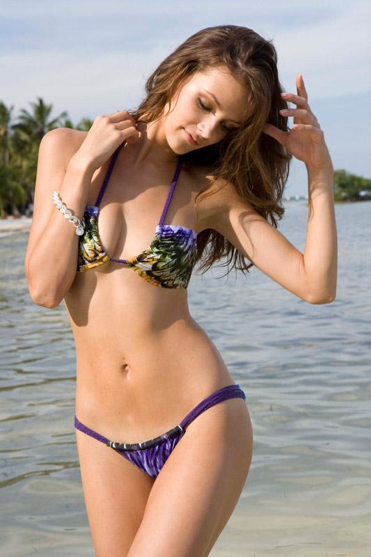 Lucia Dvorska in a bikini