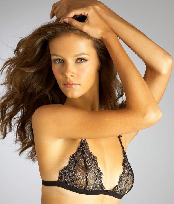 Lucia Dvorska in lingerie - breasts