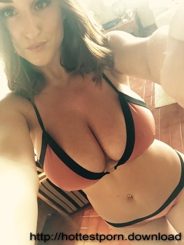 Stacey Poole in a bikini taking a selfie