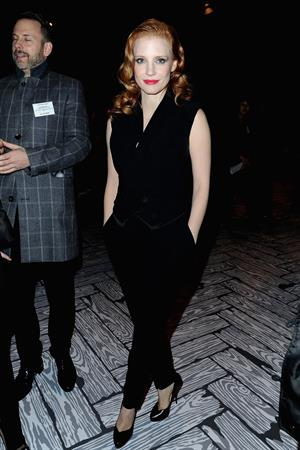 Jessica Chastain attends the Paris Fashion Week in Paris (02.03.2013)