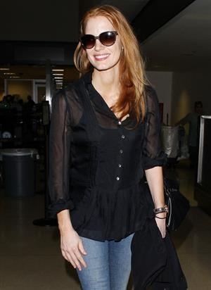 Jessica Chastain arriving at LAX airport on July 18, 2013