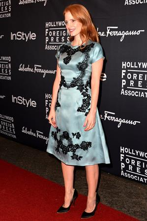 Jessica Chastain at 2013 InStyle and HFPA's Toronto International Film Festival Party - September 9, 2013
