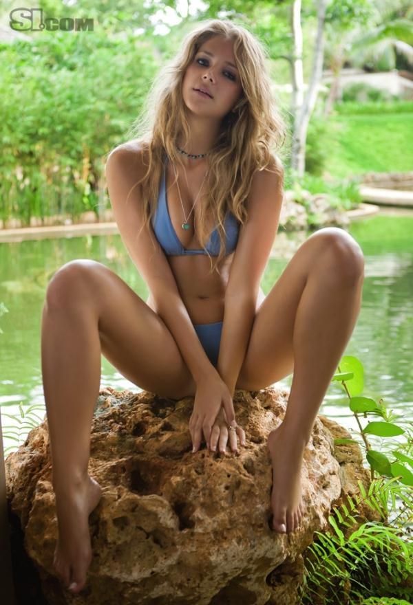 Esti Ginzburg in a bikini