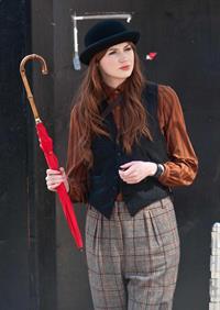 Karen Gillan - Set of 'Not Another Happy Ending' - July 30, 2012
