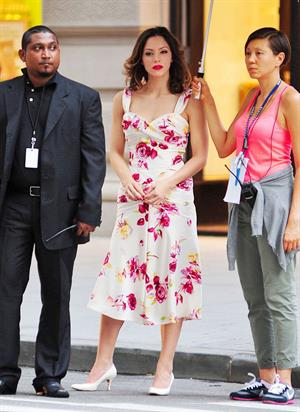 Katharine McPhee - On set of Smash in New York - August 17, 2012