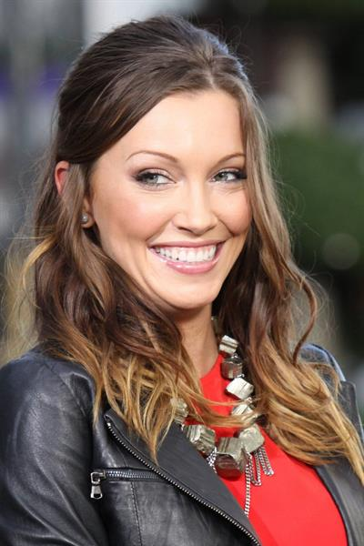 Katie Cassidy Visits  Extra  at The Grove in Los Angeles (November 13, 2012)