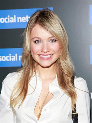 Katrina Bowden the Social Network New York Screening on September 29, 2010