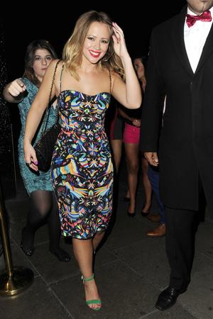 Kimberley Walsh Leaving The Rose Club, London - August 5, 2012