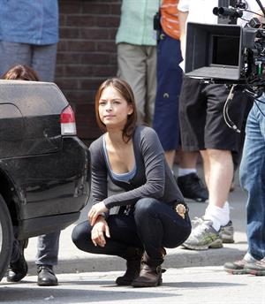 Kristin Kreuk - on the set of 'Beauty and the Beast' in Toronto August 16, 2012