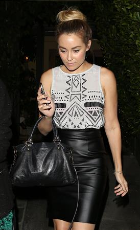 Lauren Conrad Spotted in a black leather skirt in Beverly Hills (10.05.2013)