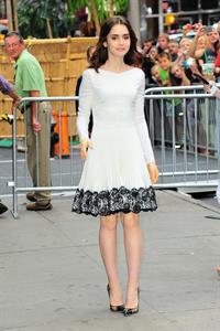 Lily Collins Outside 'Good Morning America' studio - New York, Aug. 7, 2013