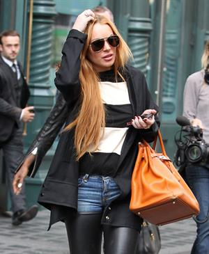 Lindsay Lohan in Manhattan on September 25, 2013