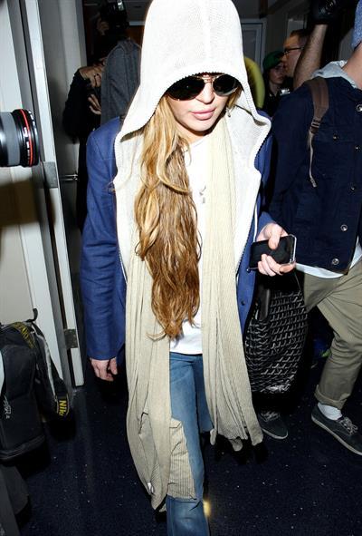 Lindsay Lohan at LAX Airport 4/18/13