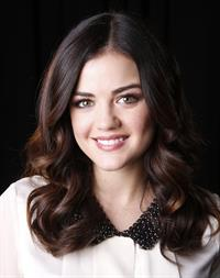 Lucy Hale posing for Carlo Allegri portraits in New York City - November 20, 2012