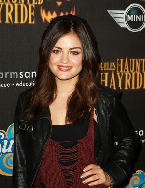 Lucy Hale 4th annual Haunted Hayride LA 10/7/12