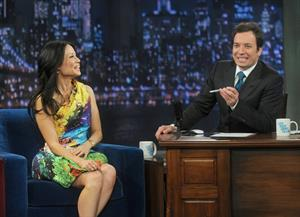 Lucy Liu Late Night with Jimmy Fallon in NYC 1/29/13