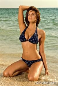 Nicci Pisarri in a bikini