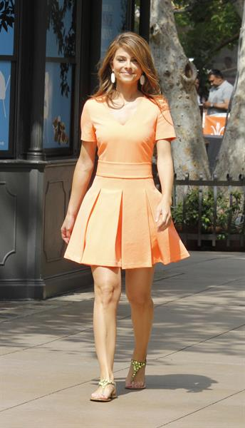 Maria Menounos Filming Extra at the Grove in West Hollywood on May 22, 2013