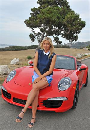 Maria Sharapova Porsche photoshoot in Manhattan Beach, California on July 11, 2013