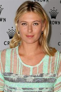 Maria Sharapova Crown's IMG Tennis Player's Party at Crown Towers January 13, 2013