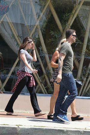 Megan Fox leaving a nail salon in Los Angeles June 6, 2012