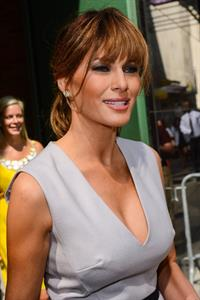 Melania Trump Heads to Good Afternoon America in New York (August 29, 2012)