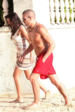 Michelle Keegan beach candids in Barbados December 30, 2011